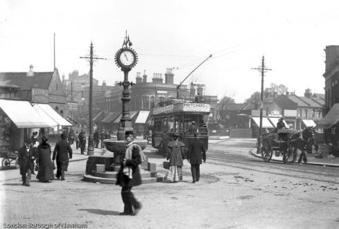 Junction of Forest Lane and Woodgrange Road, c1905