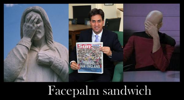 Facepalm sandwich