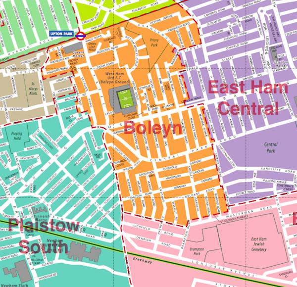 Boleyn map