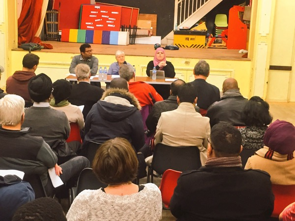 Amna Abdul addresses the Newham Fabians AGM