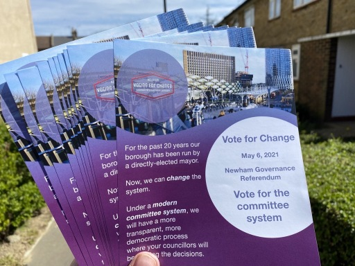 Newham Voting for Change leaflets