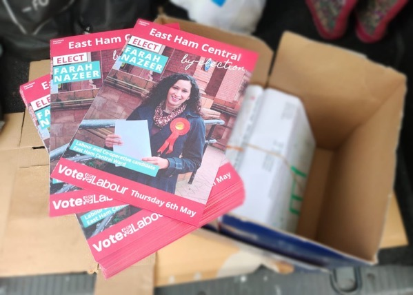 Farah Nazeer election leaflets